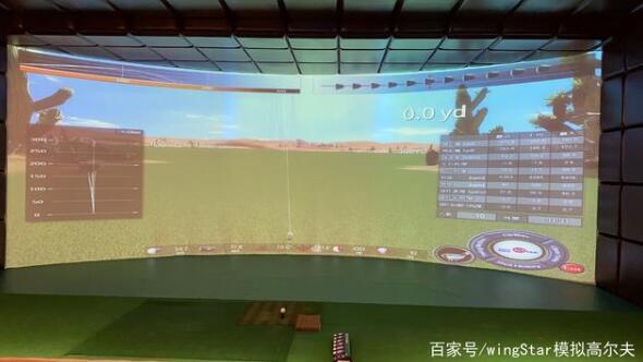 一片室内模拟高尔夫幕布,为何让客户如此感动?
